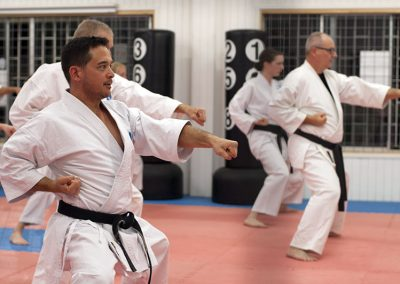 Black Belts during kihon
