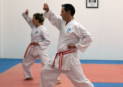 Kata demonstration during graduation