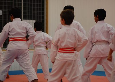 Children performing kata