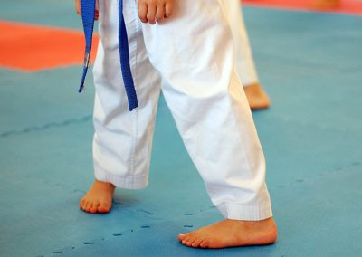 Practising naifanchi stance as part of breaking down the components of kata