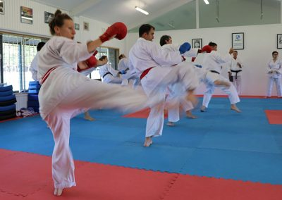 Kumite class on Saturday morning