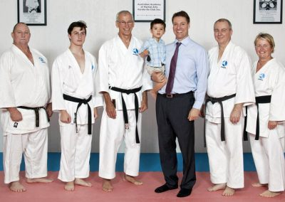 Ross Vasta visiting the dojo