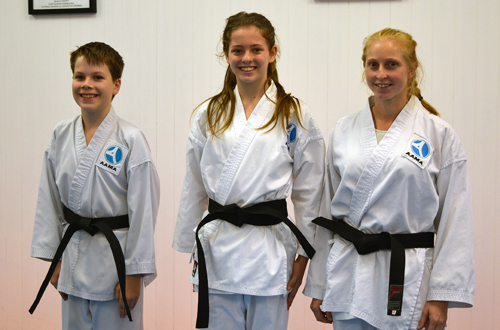 Congratulations to our newest black belt students
