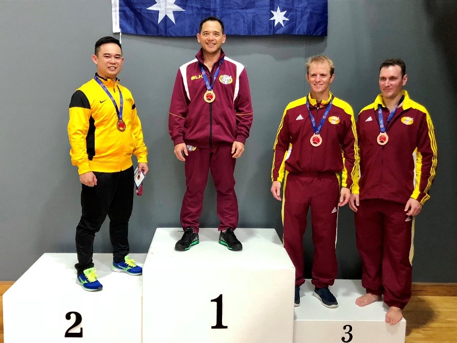 Sensei Michael Goh winner of 35-45 years Kata at the Australian National Championships August 2018